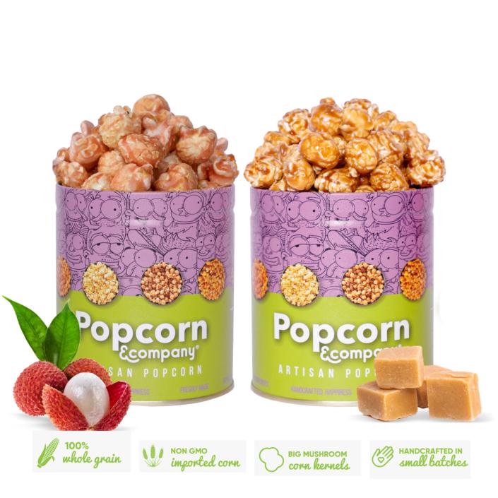 Caramel Krisp Popcorn & Lichi Popcorn 260 GM Regular Tin (Pack of 2)