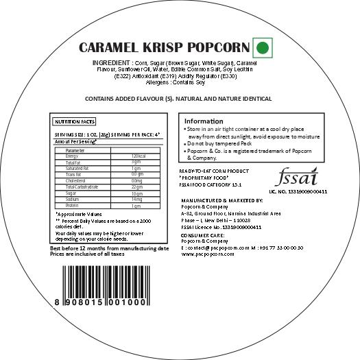 Caramel Krisp Popcorn Regular Tin Nutrition Facts