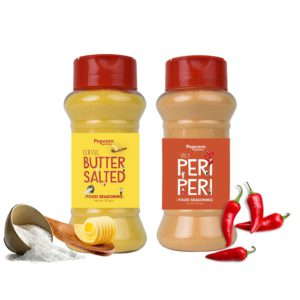Classic Butter Salted + Peri Peri Popcorn Seasoning 140 GM (Pack of 2)