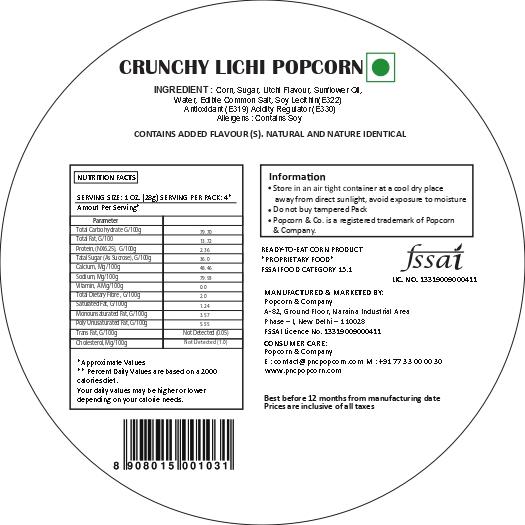 Crunchy Lichi Popcorn Regular Tin Nutrition Facts