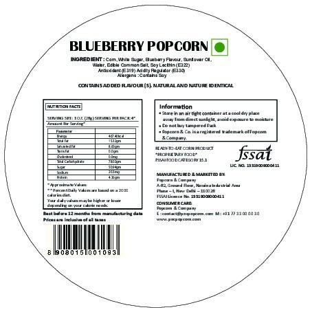 FL - Blueberry Popcorn Regular Tin 130 GM