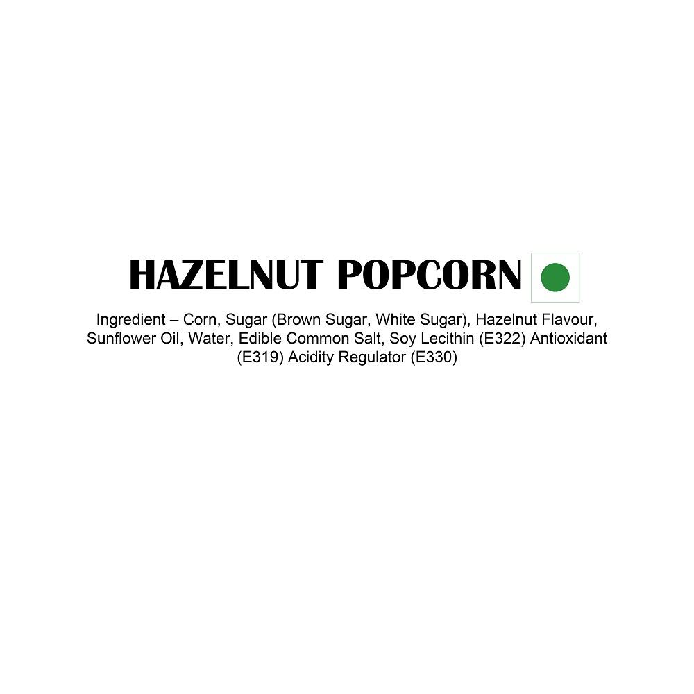 Huzelnut Popcorn Ingredients