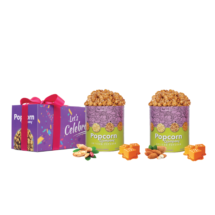 Peanut & Almond Caramel Krisp Popcorn Regular Tin (Pack of 2)