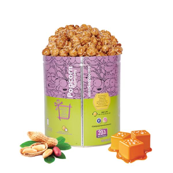 Peanut Caramel Krisp Popcorn Back Image