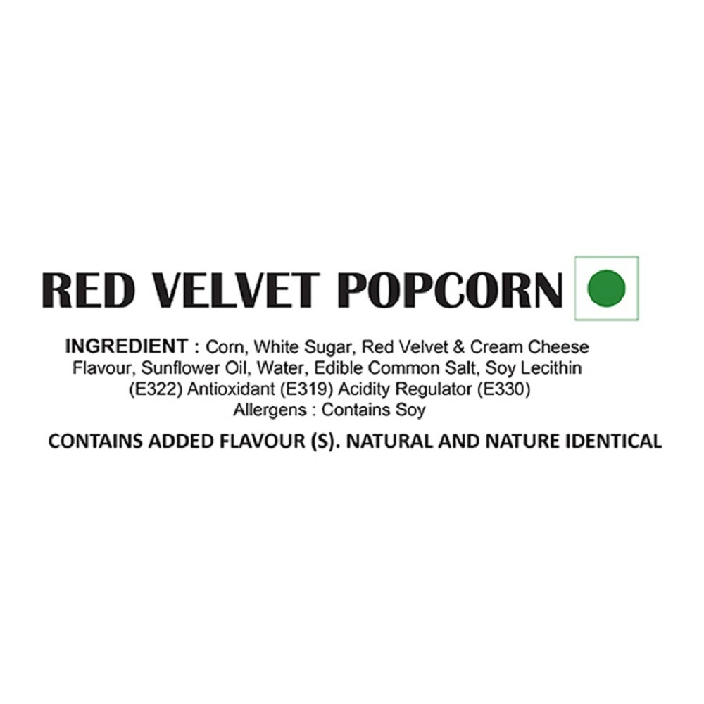 Red Velvet Popcorn - Ingredients