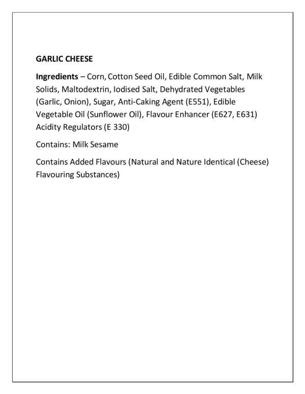 Approved Ing - Garlic Cheese Popcorn